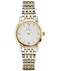 bulova ladies diamond bracelet watches images Bulova women 39 s diamond accent two tone stainless steel bracelet tif