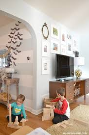 Tv In Dining Room Tv Gallery Wall And A Pen Paint Giveaway Balancing Home With