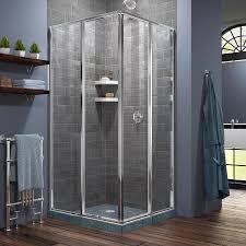 shop dreamline cornerview 34 5 in to 34 5 in framed chrome sliding