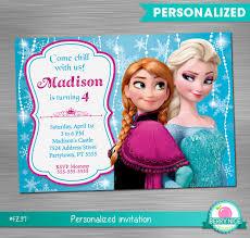 design personalized frozen birthday invitations printable