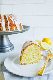 lemon sour cream bundt cake recipe pound cakes glaze and sour
