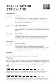 House Cleaning Resume Examples by Assembly Resume Samples Visualcv Resume Samples Database