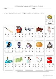 16 free esl cvc words worksheets