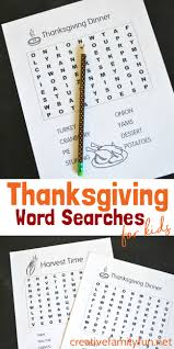 printable thanksgiving word searches for thanksgiving word