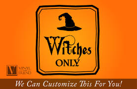 Home Decor Logo Witches Only Halloween Vinyl Decal Sign Home Decor With Hat 2219