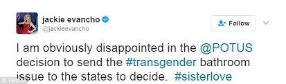 trump scraps obama u0027s transgender bathroom rules daily mail online