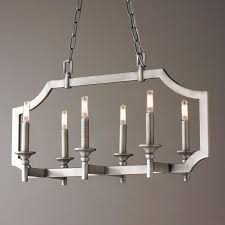 Rectangular Island Light Sleek Pagoda Frame Island Chandelier Transitional Style