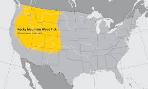 map of the geographic distribution of ticks that bite humans ticks cdc