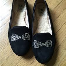 ugg s roni shoes black 67 ugg shoes ugg alloway bow suede flats from