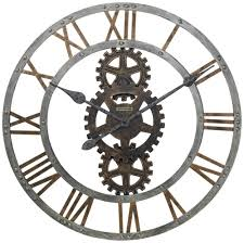amazon com crosby wall clock in warm gray iron home u0026 kitchen