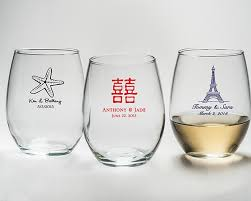 personalized glasses wedding personalized stemless 9 oz wine glass gift boxes available