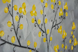 Home Decor Wall Art Yellow Blossoms By Qiqigallery 16