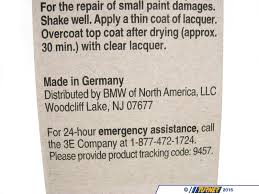51910419746 genuine bmw touch up paint jet black ii color