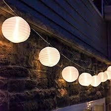 10 ft white outdoor string light 10 mini lanterns 1 plugin