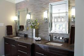 excellent bathroom sconce lights walls and wooden cabinets