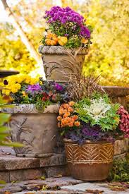 outdoor fall decorating mums midwest living