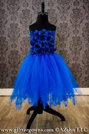 flower dress royal blue tulle baby dress fairy dress