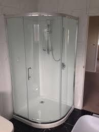 curved corner shower 900 w single sliding door ff309 eco