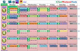 Workout Excel Spreadsheet Slim In 6 Calendar Calendar 2017 Printable