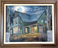 moonlight speakers rustic landscape paintings fine art acrylic painting a rustic