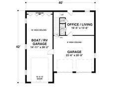 garage office plans plan maison neuve à construire marc junior eco design 140