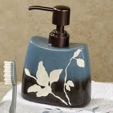 Blue And Brown Bathroom by Passell Blue And Brown Ceramic Bath Accessories