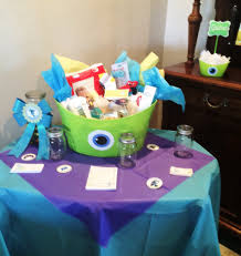 monsters inc baby shower decorations my sons monsters inc baby shower table baby walker