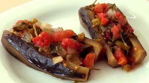 vegetarian stuffed eggplant recipe youtube