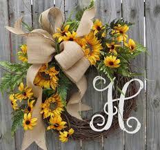 burlap sunflower wreath summer wreath wreath for summer burlap
