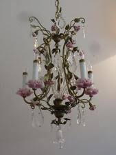 porcelain chandelier roses antique chandelier ebay