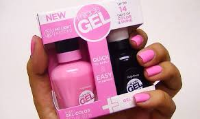 gel nail light sally s beauty nails sally hansen miracle gel in pink cadillaquer happy schnapper