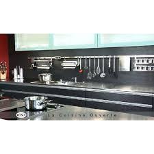 barre porte ustensiles de cuisine inox de 40 a 100 cm rosle porte
