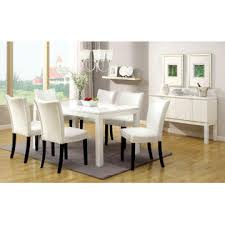 Gloss Dining Tables Furniture Of America Grangas White Gloss Dining Table