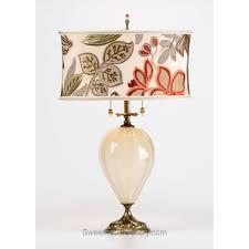 jacqui table lamp kinzig design cream brown rust green blown