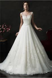 illusion neckline wedding dress gown bateau illusion neckline sheer back tulle lace wedding dress