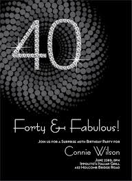diamond numbers 40th milestone birthday invitations stuffing 40