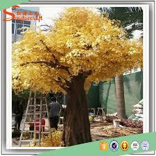 wholesale outdoor fiberglass large gold artificial manzanita
