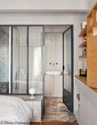 salle de bains dans chambre chambre salle de bain verriere salle de bains suite parentale