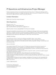 It Manager Resume Example by It Infrastructure Project Manager Resume India Youtuf Com