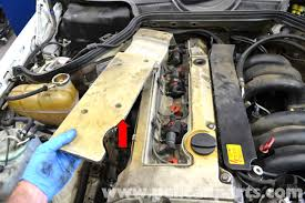 mercedes benz w124 spark plug wires and coil replacement 1986