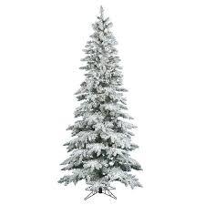 vickerman warm white 7 5 ft pre lit flocked slim utica fir