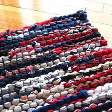 Red White And Blue Rugs Shop Blue Rag Rug On Wanelo