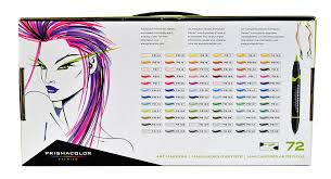 prismacolor marker set prismacolor ended brush marker set 72