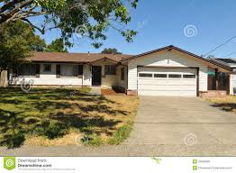single story house single story family house with driveway stock photo image 25569820