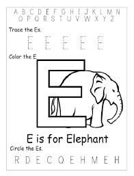 trace letter e color the letter e circle letter e worksheet
