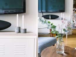 Schlafzimmer Lampe Altbau Wohnzimmer Neu Einrichten Kupfer Rosé Und Blau