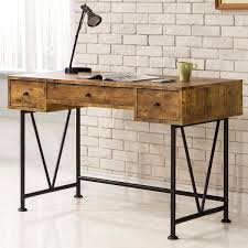 Overstock Home Office Desk Mid Century Industrial Design Home Office Computer Writing Desk