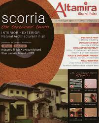 mineral paint scorria for interior and exterior textured finish
