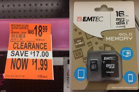 black friday micro sd card 16gb micro sd card with adapter 1 99 clearance walgreens ymmv