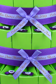 printed ribbons for favors give quinceanera distinction with personalized ribbon